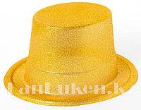Шляпа карнавальная блестящая (желтая)
