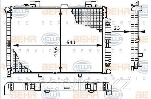 Радиатор W210(M112)(210 500 28 03/30 03)(BEHR)(8MK 376 710-231)