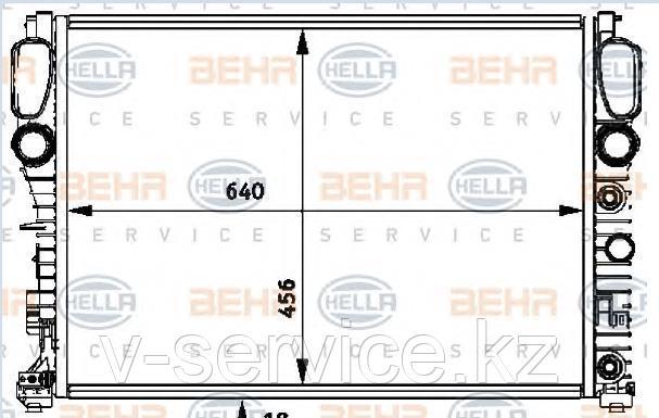 Радиатор W211(M112)(211 500 01 02)(BEHR 8MK 376 718-011)