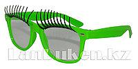 Карнавальные очки с ресницами (зеленые)