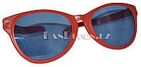 Большие карнавальные очки (красные с синими стеклами)