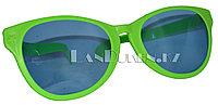 Большие карнавальные очки (зеленые с синими стеклами)