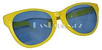 Большие карнавальные очки (желтые с синими стеклами)