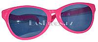 Большие карнавальные очки (розовые с синими стеклами)