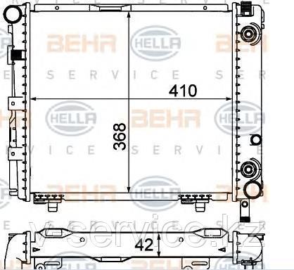 Радиатор E124(M111)(124 500 60 03)(BEHR 8MK 376 712-151)