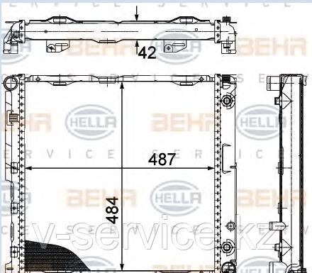 Радиатор E124(M111)(124 500 62 03/63 03)(NISSENS 62764A)