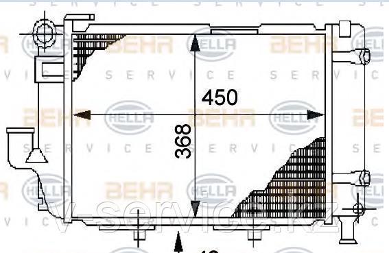 Радиатор W124(M103,104)(124 500 15 03)(NISSENS 62711)