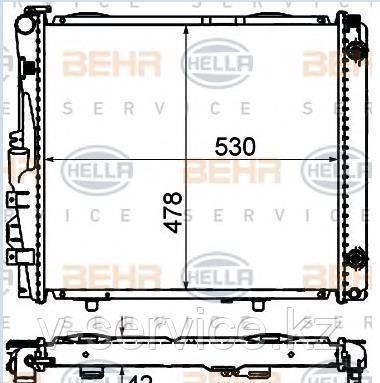 Радиатор W124(M103,104)(124 500 90 03/28 03)(NISSENS 62683 A)