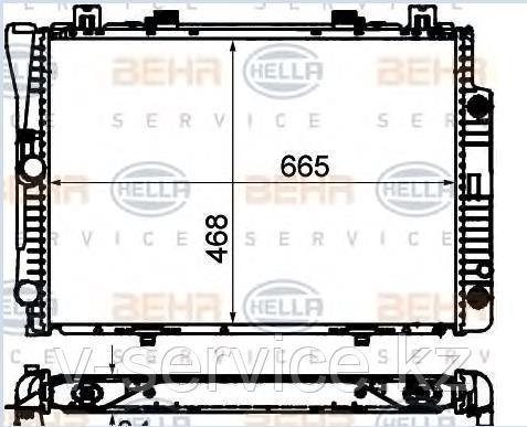 Радиатор W140(M104)(140 500 21 03)(NRF55332)