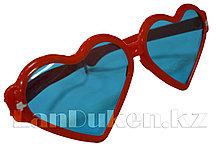"""Огромные карнавальные очки """"Сердечки"""" (с красной оправой)"""
