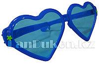 """Огромные карнавальные очки """"Сердечки"""" (с синей оправой) оранжевый"""