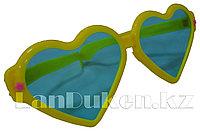 """Огромные карнавальные очки """"Сердечки"""" (с желтой оправой)"""