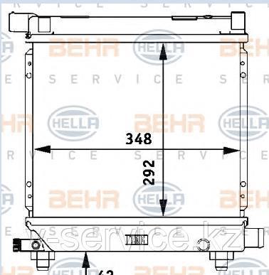 Радиатор W201(M102)(201 500 76 03)(NISSENS 62551 A)