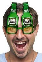 Карнавальные очки Beer зеленые