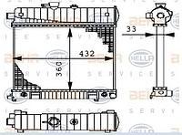 Радиатор W202(M111)(202 500 61 03)(TERMAL 512708H)(NISSENS 62708 A)