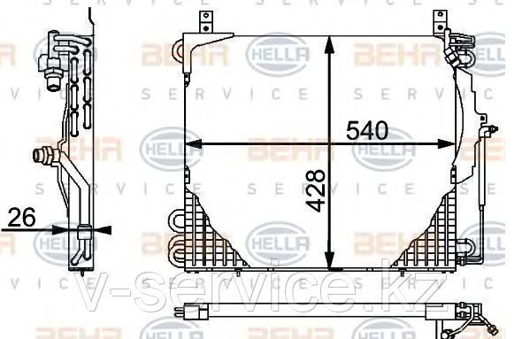 Радиатор кондиционера W124(124 830 06 70)