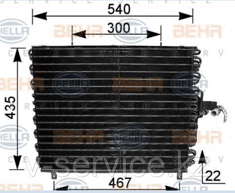 Радиатор кондиционера W124(124 830 16 70)