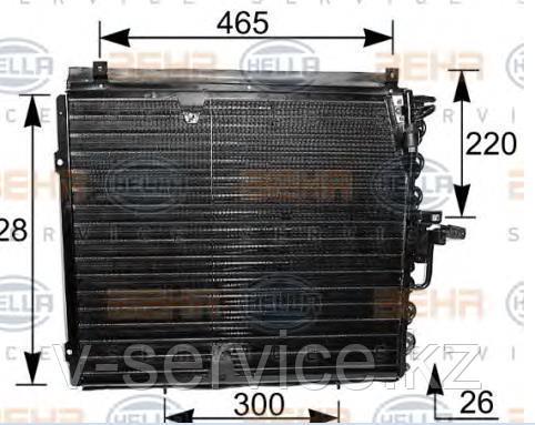 Радиатор кондиционера W124(124 830 17 70)(NISSENS 94162)