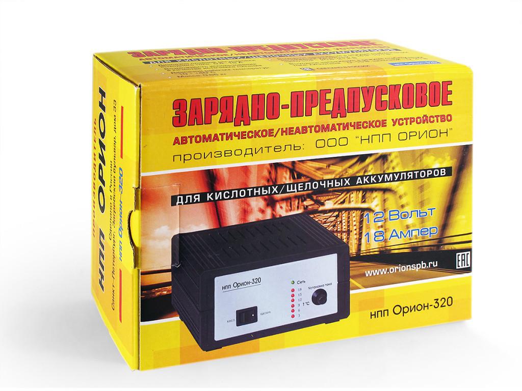 Автомобильное Зарядное устройство НПП Орион-320