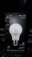 "Светодиодная лампа, 7W LED=60W, E27 форма ""Шар"""