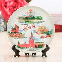 Сувенирная тарелка 'Москва', d15 см
