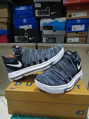 Баскетбольные кроссовки  Nike KD X (10) from Kevin Durant темно-серые, фото 2