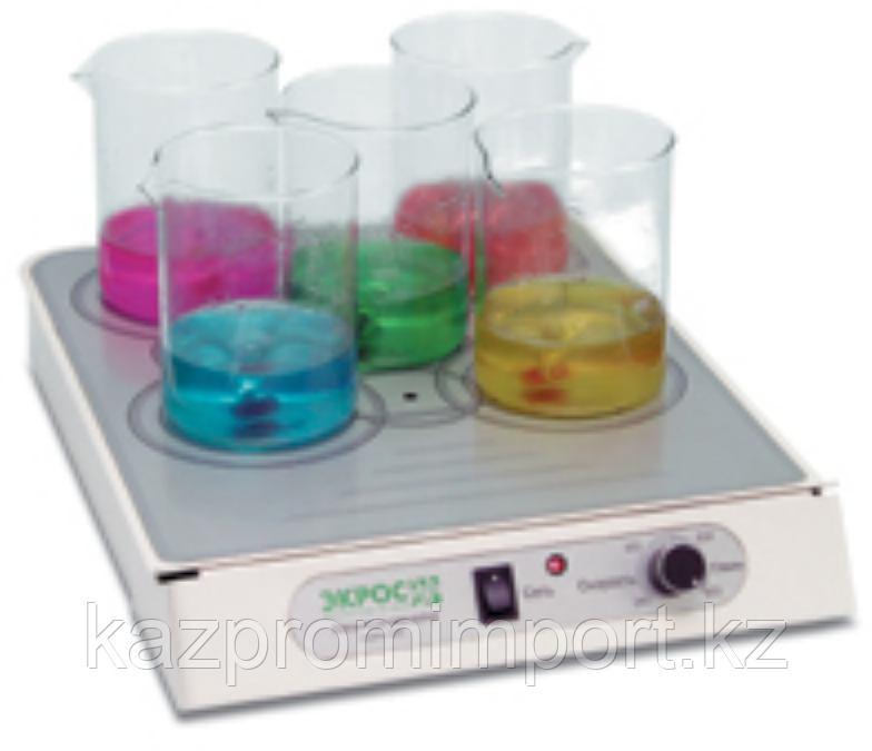 Магнитная мешалка ПЭ-6600 многоместная (ПЭ-0135)