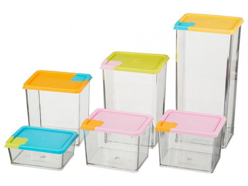 Набор контейнеров для сыпучих предметов 6штук