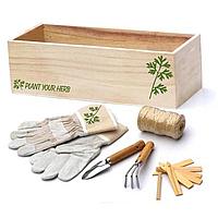 Набор для ухода за комнатными растениями в деревянной коробке