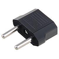 Сетевой переходник (адаптер) с US (CN) в EU 10А/250V черный , фото 1