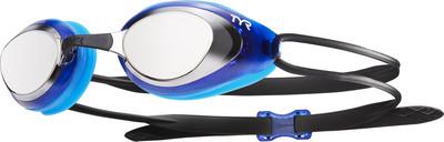 Тренировочные очки для плавания Tyr Black Hawk Racing Mirrored цвет 046 Серебристый/Голубой/Черный