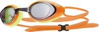 Очки для плавания TYR Black Hawk Racing цвет 085 Дымчатый/Светло-зеленый/Черный линзы - поликарбонат; уплотнитель - силикон, TYR, 814 Дымчатый/Ярко-Ораньжевый/Ярко-Желтый