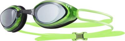 Очки для плавания TYR Black Hawk Racing цвет 085 Дымчатый/Светло-зеленый/Черный