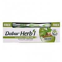 Зубная паста Dabur Herbal Neem (ним) + щетка в подарок