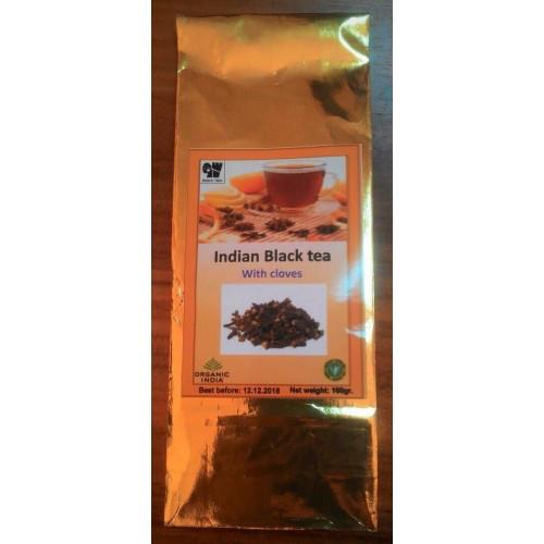 Индийский черный чай с гвоздикой, 100гр Organic india