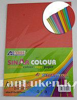 Бумага А4 (210* 297 мм) 100 листов цвета в ассортименте