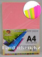 Бумага А4 (210* 297 мм) 80 листов цвета неоновые в ассортименте