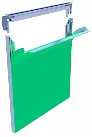 Алюминиевый профиль для натяжки ткани 22мм (6м)