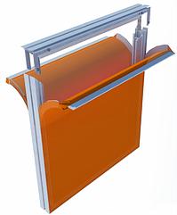 Текстильный профиль 45мм для двухсторонней натяжки ткани