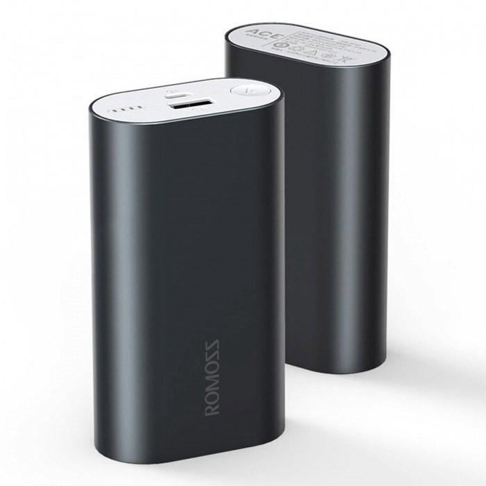 Дополнительный аккумулятор ROMOSS ACE 10000 mAh (серый)