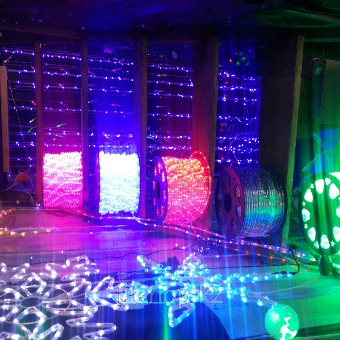 Светодиодный дюралайт 100 метров (30 ламп на 1 метр) для помещений и улицы водонепроницаемый