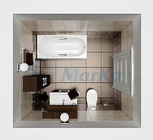 Акриловая гидромассажная ванна. Калипсо 170*75 см. ЛАЙТ (Общий массаж + массаж спины ), фото 3