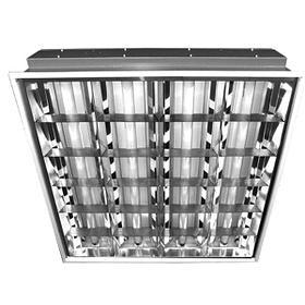 Светильники люминесцентные - растровые встраиваемые