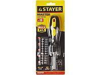 """Набор STAYER """"MASTER"""": Отвертка-битодержатель, биты 25мм 15шт, 16 предметов"""
