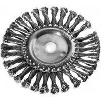 DEXX. Щетка дисковая для УШМ, жгутированная стальная проволока 0,5мм, 125ммх22мм