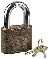 """Замок ЗУБР """"МАСТЕР"""" навесной, общего применения, дисковый механизм секрета, ключ 7 """"пинов"""", дужка d-14мм, 70мм"""