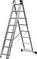 Лестница СИБИН универсальная, трехсекционная со стабилизатором, 8 ступеней