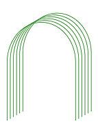 Дуги для парника GRINDA, покрытие ПВХ, 2,5м, 6шт, 422309-100-095