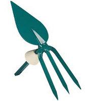 Мотыжка садовая RACO, лезвие лепесток, 3 зубца, с быстрозажимным механизмом, 75мм