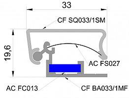 Алюминиевый профиль с клик системой(часто сменной информацией) 33мм квадратного сечения